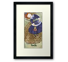 Watercolour, pattern William Morrris-Indian Diaper. Framed Print