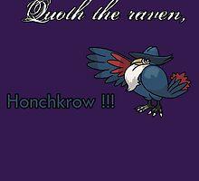 Quoth the raven... HONCHKROW !!! by Sheeta