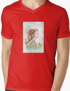 """THE ARIES"" - Protective Angel for Zodiac Sign Mens V-Neck T-Shirt"