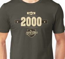 Born in 2000 (Cream&Choco) Unisex T-Shirt