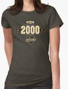 Born in 2000 (Cream&Choco) Womens Fitted T-Shirt