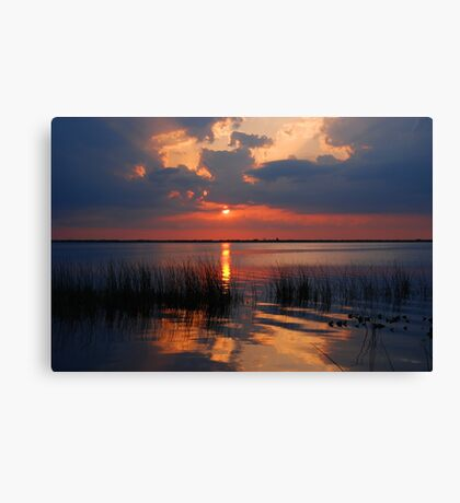 Another Sunset on the Lake Canvas Print