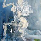 Sits on a blue statue by Catrin Stahl-Szarka