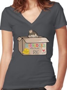 Sherlock's Mind Palace Women's Fitted V-Neck T-Shirt