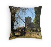 The Church at Edgeworth Throw Pillow
