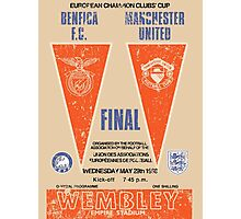 Manchester United vs Benfica - Retro Match Programme Photographic Print