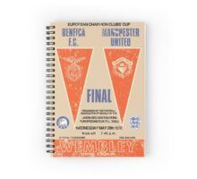 Manchester United vs Benfica - Retro Match Programme Spiral Notebook