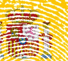 Spanish flag - fingerprint Sticker