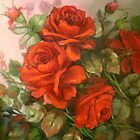 Red Rose's by Cathy Amendola