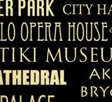 Oslo Famous Landmarks Sticker