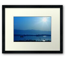 listen to the sound of silence Framed Print