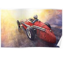 Light Racing Maserati 250 F Poster