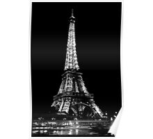 Eiffel Tower by Night - Paris Poster