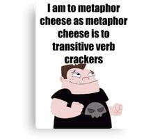 Metaphor Cheese Canvas Print
