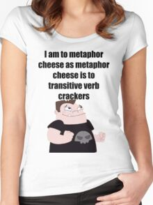 Metaphor Cheese Women's Fitted Scoop T-Shirt