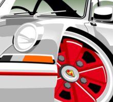 Classic Porsche 911 Carrera caricature Sticker
