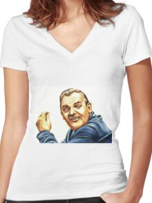 Ronnie Barker plays Fletch Women's Fitted V-Neck T-Shirt