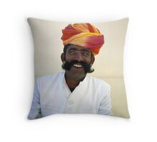 jaipur man. Throw Pillow