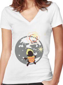 Lucas (Mother, Version 2) - Sunset Shores Women's Fitted V-Neck T-Shirt