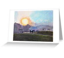 Sedgfield (Painting) Greeting Card