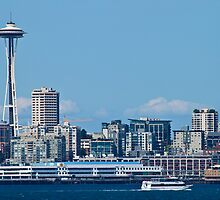 Seattle's Space Needle and Skyline by Barb White