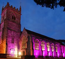 St Edmunds Church Salisbury at night by Tony Reed