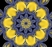 Yellow floral abstract by Dipali S