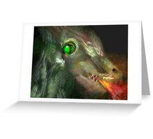 Fractal fire-breathing dragon Greeting Card