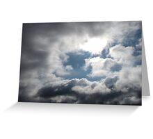 Blue Sky Shining Through Greeting Card