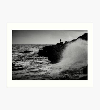 French Atlantic Coast - Storm Art Print