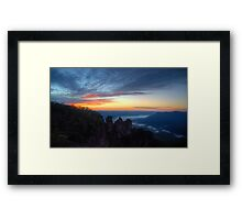 The Sisterhood - Blue Mountains World Heritage Area - The HDR Experience Framed Print