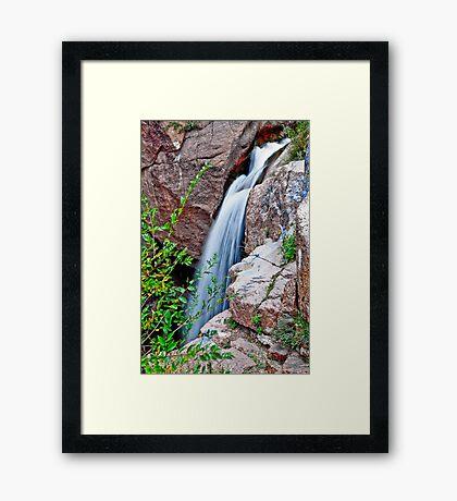 HDR Waterfall Framed Print