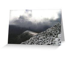 Early Snow over Glencoe Greeting Card