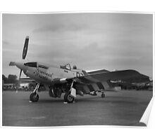 P-51 Mustang 'Ferocious Frankie' @ IWM Duxford Poster