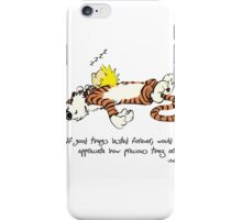 Calvin And Hobbes Quote iPhone Case/Skin