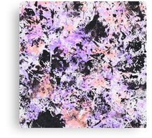 Lilac Ink Texture Canvas Print