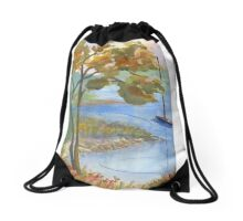 Kings Cove, Damarascotta Area in Maine Drawstring Bag