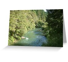 The running River Greeting Card