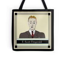 F Scott Fitzgerald Portrait in 60 seconds in yellow Tote Bag