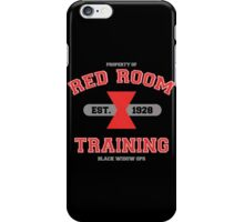 Red Room Training- White & Red (vari. 2) iPhone Case/Skin