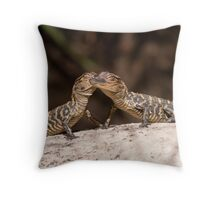 Your Kiss, Always Brings A Smile To My Face !!!!! Throw Pillow