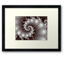 Cloudy with a Chance of Fractals Framed Print