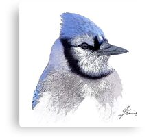 The Blue Profile 3 Canvas Print