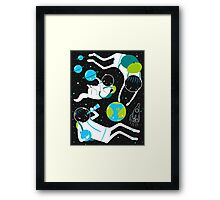 A Day Out In Space - Black Framed Print
