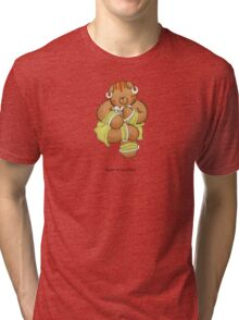 BEARS and FIGHTERS - Dhalsim Tri-blend T-Shirt