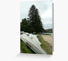 Tin boats by the water Greeting Card