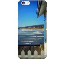 San Diego - Beach View From Crystal Pier iPhone Case/Skin