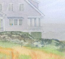 Wyatt Cottage in Fog Monhegan Island Maine Sticker