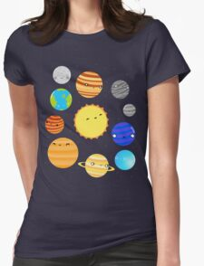 The Solar System Womens Fitted T-Shirt