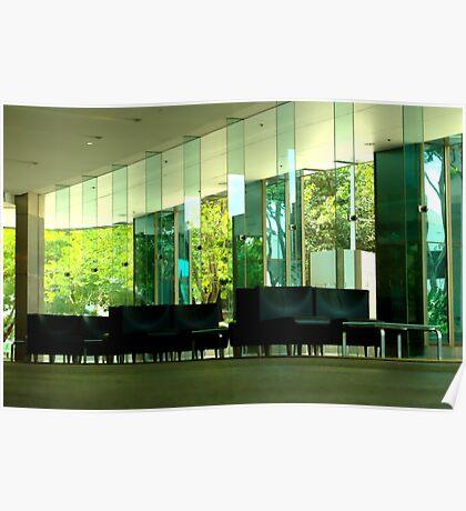 Deserted Office Building Foyer Poster
